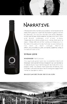Narrative Syrah 2016 | Flavours of soft red fruits with classic pepper notes. Red Fruit, Wines, Stuffed Peppers, Classic, Derby, Stuffed Pepper, Classic Books, Stuffed Sweet Peppers