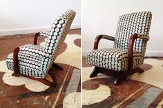 Representative of Susan's rocker Furniture Projects, Furniture Making, Furniture Refinishing, Antique Furniture, Painted Furniture, Wicker Couch, Chair Upholstery, Recover Chairs, Repurposed