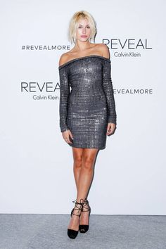 Hailey Baldwin at Calvin Klein. See photos from the best #NYFW parties here.