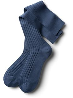 Delicate grey-blue Knee High Socks made from mercerised cotton for a distinguished appearance. Knee High Socks, Blue Grey, Elegant, Cotton, Men, Fashion, Classy, Moda, Fashion Styles