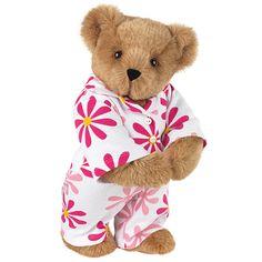 """15"""" Fuchsia Daisy PJs Bear from Vermont Teddy Bear. $69.99. #MothersDay"""