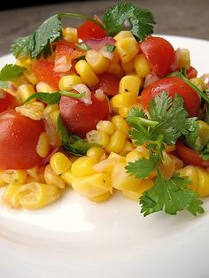 Summer Corn Salad with cilantro and lime.