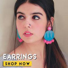 Diy Fabric Jewellery, Fabric Earrings, Tassel Jewelry, Bead Jewellery, Handmade Rakhi Designs, Handmade Jewelry Designs, Earrings Handmade, Earrings Crafts, Diy Crafts Jewelry