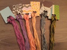6 Large Skeins of Overdyed Floss - Natural Dyes  Lot 91  Wholesale Pricing #QueenCityDyeCompany