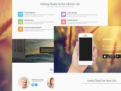 PSD Landing page for apps #psd,#landing page,#app