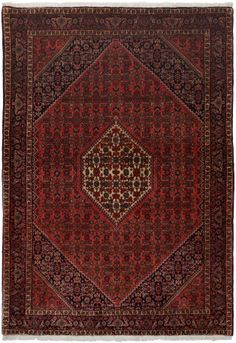 "Bidjar Rust Classic Medallion Carpet CS-M982053172 X 121 Cm. (5'7"" X 4' Ft.) - Carpetsanta"