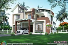 Contemporary home by Space extended - Kerala home design and floor plans