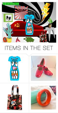 """My Cartoon Life"" by anna-ragland on Polyvore featuring art, contemporary and vintage"