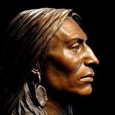 Tašúŋke Witkó / Crazy Horse by Sunti Pichetchaiyakul Native American Warrior, Native American Beauty, Native American Pottery, American Indian Art, Native American History, American Indians, American Symbols, Apache Indian, Native Indian