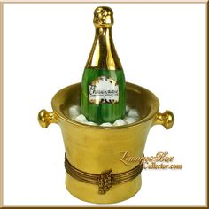 Champagne Bottle in 24K Gold Ice Bucket Large (Chamart)