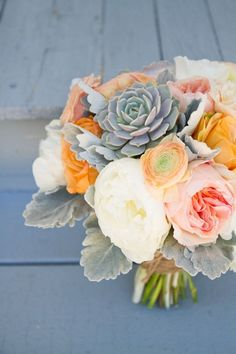 Spring bouquet with succulents