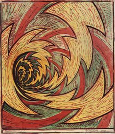 Cyril E. Power ~ The Vortex, 1929 (linocut)  I love this.  Think it could make an awesome tattoo.