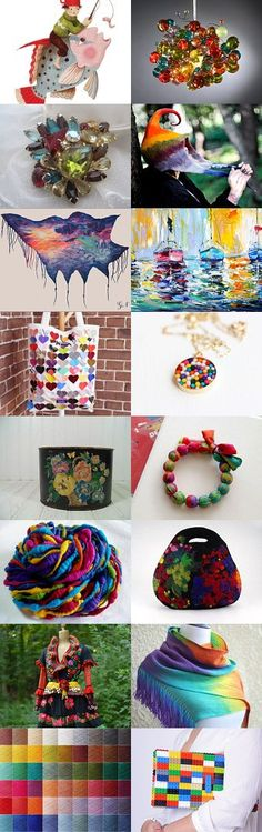 COLOURFUL by Antje Henke on Etsy--Pinned with TreasuryPin.com