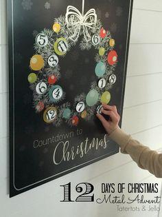 12 days of christmas countdown advent calendar
