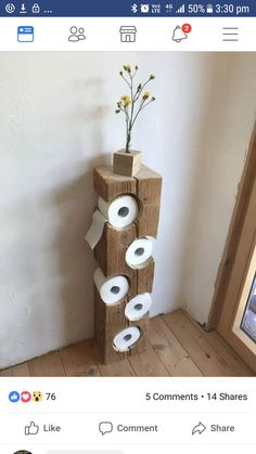 16 wirklich coole Möglichkeiten, um Toilettenpapier im Badezimmer zu lagern 16 really cool ways to store toilet paper in the bathroom Ideen Diy Toilet Paper Holder, Toilet Paper Crafts, Toilet Paper Storage, Toilet Roll Holder Rustic, Diy Paper, Cool Toilets, Rustic Toilets, Woodworking Projects, Diy Projects