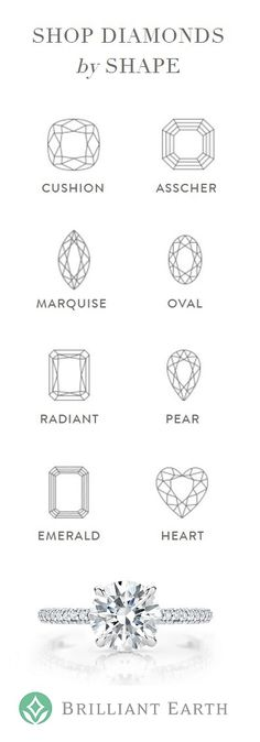 "Many couples are drawn to the distinctive look of non-round, or ""fancy shaped"" diamonds. Learn about the most popular shapes and shop our collection of fancy shaped diamonds. Diamond Are A Girls Best Friend, Art Reference, Engagement Ring Shapes, Engagement Rings, Glitters, Diamond Shapes, Zentangle, Wedding Couples, Wedding Ideas"