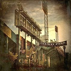 Fenway Park Lansdowne St and Gate C Vintage Print - Boston Prints - Red Sox Wall Art - Fenway Park Decor. ***AVAILABLE AS ART PRINT OR CANVAS GALLERY WRAP*** Vintage Fenway Park Wall Print showing Lansdowne Street, Gate C and the big green scoreboard.