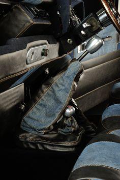 Leather & Diesel jeans denim gear gaiter by ruskin design