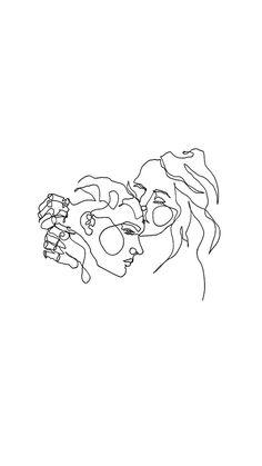 Contour Drawing Line Contour Drawing, Line Drawing, Drawing Sketches, Art Drawings, Minimalist Drawing, Minimalist Art, Outline Art, Love Art, Aesthetic Wallpapers