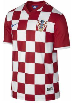 2014 World Cup Croatia Home Soccer Jersey
