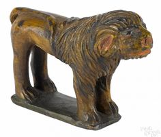 Wilhelm Schimmel (Cumberland Valley, Pennsylvania 1817-1890), carved and painted lion
