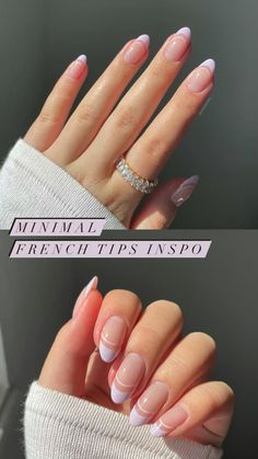 Rounded Acrylic Nails, French Tip Acrylic Nails, White Tip Nails, Simple Acrylic Nails, Almond Acrylic Nails, Best Acrylic Nails, Simple Nails, Simple Elegant Nails, Fall Almond Nails
