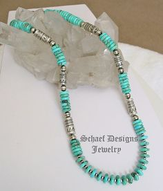 Carico Lake Turquoise & Sterling Silver Southwestern Necklace