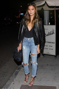 Ooh la la! Jamie Chung didn't let the dropping winter temperatures stop her from taking th...
