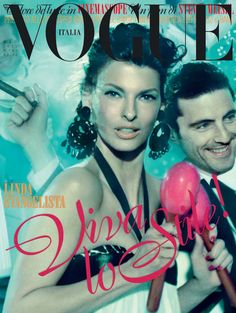 Glam Italiano with Linda Evangelista for the May issue of #Vogue Italia. Photos by Steven Meisel.
