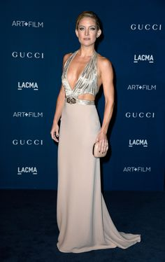 Kate Hudson wearing a Gucci gown at the LACMA 2013 Art + Film Gala