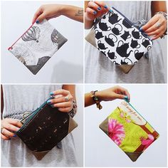 tutorial: DIY corner tab flat pouch - - I want to make some of these! They would work great for my diabetes bag! :)
