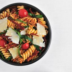 Fusilli with Spinach and Sun-Dried-Tomato Pesto Recipe - Quick From Scratch Soups & Salads | Food & Wine