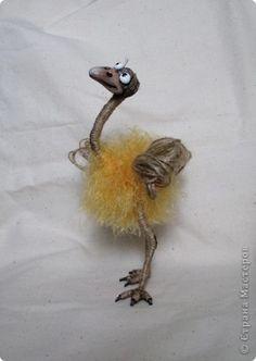 Веселый страус Нитки фото 1