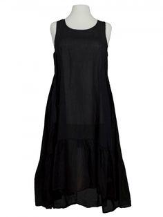 Damen Baumwollkleid, schwarz von Diana bei www.meinkleidchen.de