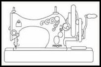 free digital stamps | objects  Vintage sewing machine/ great pattern for Sewing Store window! ~nrp