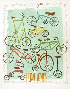 Pedal Power by Mary Kate McDevitt, cute!!!
