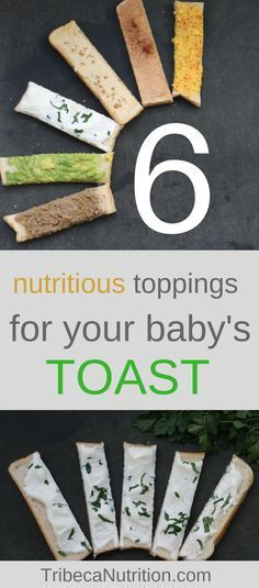 A piece of toast cut into sticks is a perfect finger food. It's convenient to grab and has the chewy texture babies love. But you can take the humble toast to a totally new nutritional level with these 6 toppings I share in this toast. Additional bonus: your baby's taste buds will get super excited about the spice combos!