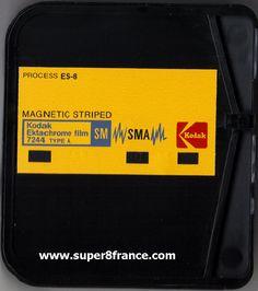 Développement et numérisation du chargeur Super 8 Ektachrome SM Sonore
