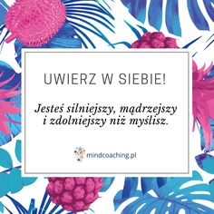 Uwierz w osobę, którą chcesz się stać! Zobacz więcej na mindcoaching.pl #motywacja #rozwójosobisty #cytaty #mindcoaching Daily Quotes, Me Quotes, Motivational Words, Life Motivation, Videos Funny, Motto, Self Love, Are You Happy, Hand Lettering