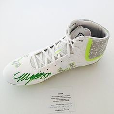 63d5b378f0ca5a Seahawks Marshawn Lynch signed Under Armour Football Cleat Shoe LSC  Authentic COA at Amazon s Sports Collectibles Store