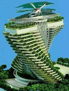 Unusual Buildings, Interesting Buildings, Amazing Buildings, Modern Buildings, Futuristic Architecture, Sustainable Architecture, Beautiful Architecture, Art And Architecture, Future Buildings
