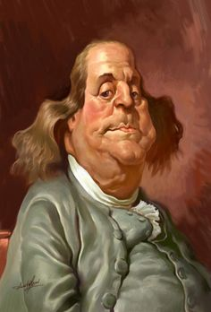 Caricature Collection: FAMOUS PEOPLE....Benjamin Franklin