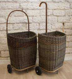 I love these wicker shopping carts