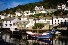 Traditional fishing harbour in Cornwall