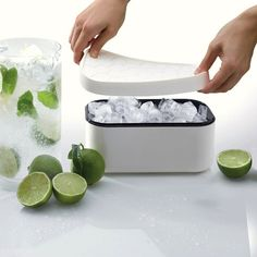 Ice Box White - makes and stores!  (Great for coffee ice cubes for smoothies!)