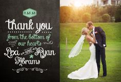 Blackboard Wedding Thank You Card Design