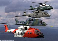 The US101 has been chosen as the replacement helicopter for the Marine One Presidential Transport. - Image - Airforce Technology