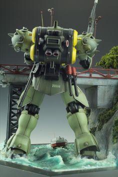 GUNDAM GUY: HGUC 1/144 Geara Doga - Diorama Build