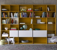 Superb Contemporary bookcase lacquered wood GRID by Janke Coste Design interl bke