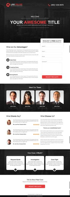 12 Beautiful Landing Page Templates Designed Just For You - Landing Page - Ideas of Landing Page - Law Online Landing Page Lead Form Unbounce Conversion Centered Design Template Contest Winner Email Template Design, Email Design, Page Template, Design Templates, Blog Layout, Website Layout, Web Layout, Nice Website, Design Layouts